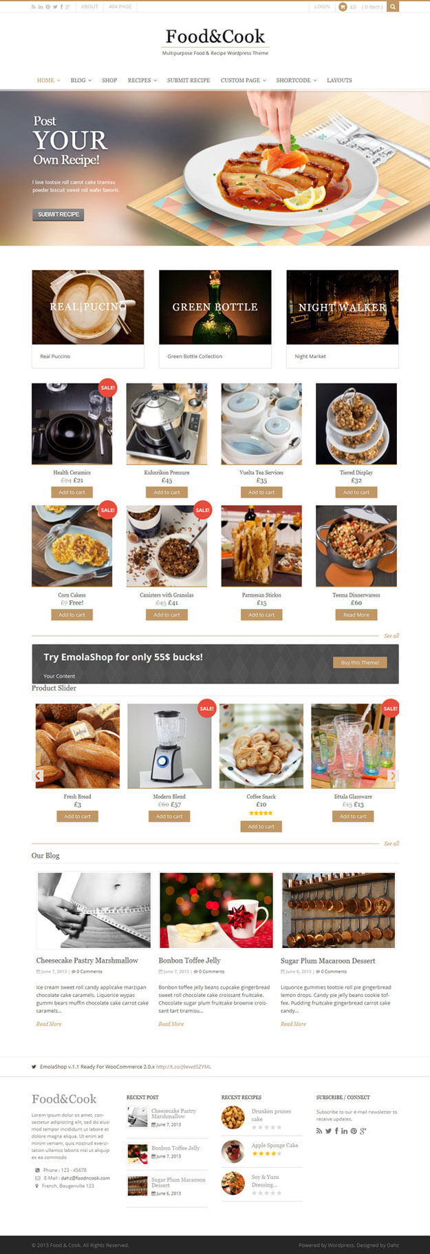 17 best food blog wordpress themes 2018 start a food blog useful food cook recipe wordpress theme forumfinder Image collections