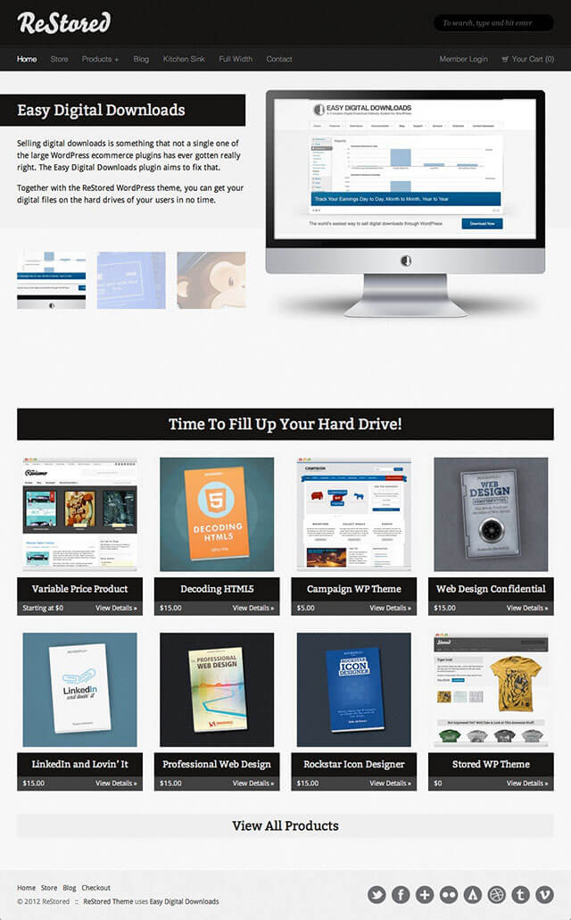 9 Best Digital Products Selling WordPress Themes (2018) | Useful ...
