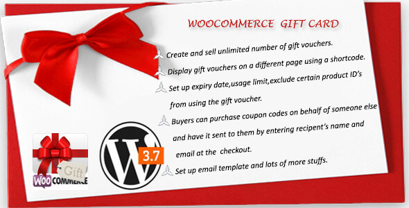 Gift coupons woocommerce