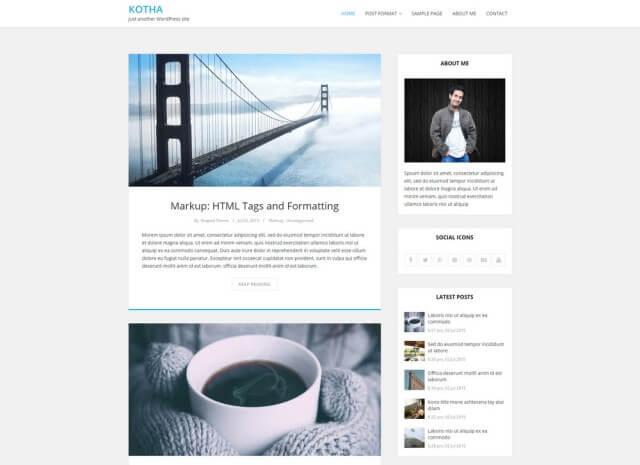 FormatFactoryFree Minimalist WordPress Themes 10
