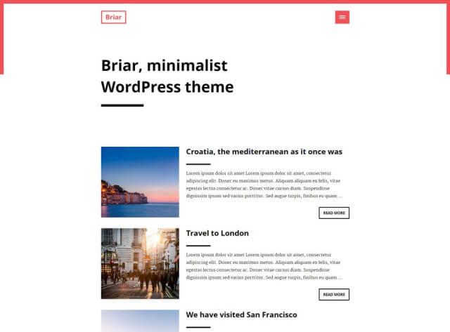 FormatFactoryFree Minimalist WordPress Themes 3
