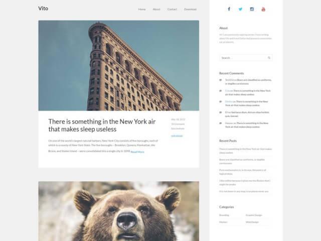 FormatFactoryFree Minimalist WordPress Themes 8
