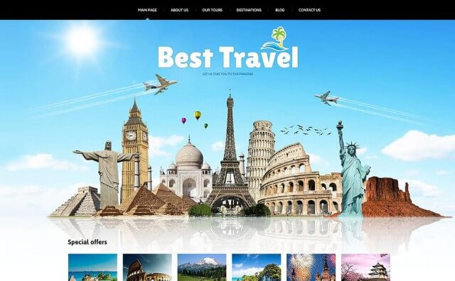 best joomla templates for travel company 2