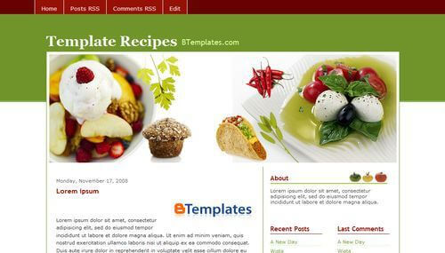 16 best food recipe blogger templates 2018 useful blogging best food recipe blogger templates 9 forumfinder Gallery