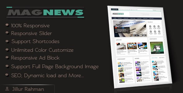 Best Responsive Blogger Template 4