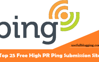 Top 25 Free High PR Ping Submission Sites List 2017