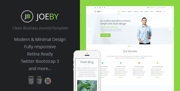 16 best optimized joomla business website templates 2018 joeby onepage clean business joomla template flashek Gallery