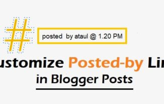 How to Customize Posted by Line in Blogger Posts