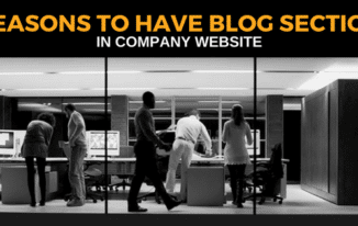 8 Reasons to Have Blog Section in Company Website 2017
