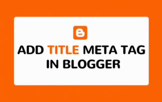 How to Add Title Meta Tag in Blogger Template