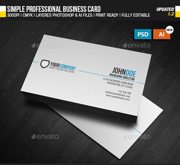 8 best creative business card templates of 2018 download here simple professional business card goes for the simplicity look and using simple and yet attractive ways positioning to make the business card stands out wajeb