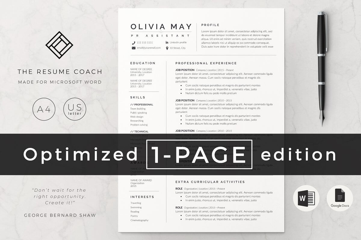 12 best resume and cover letter templates